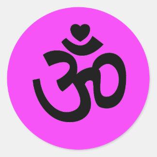 El corazón OM firma - al pegatina de la yoga (el