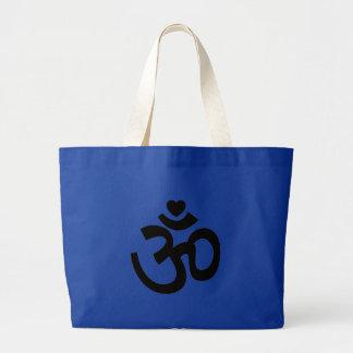 El corazón OM firma - el regalo de la yoga para Bolsa Tela Grande