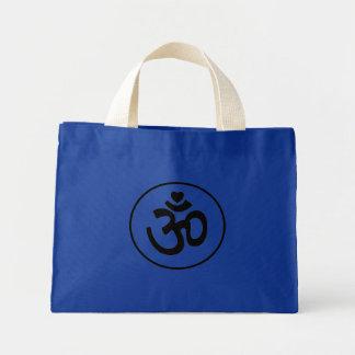 El corazón OM firma - la bolsa de asas de la yoga