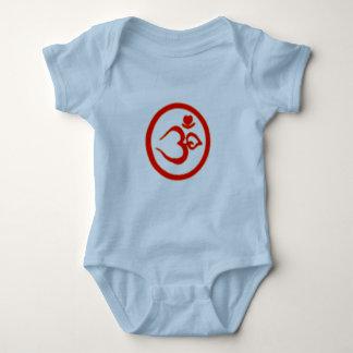 El corazón OM firma - la ropa de la yoga del bebé Body Para Bebé