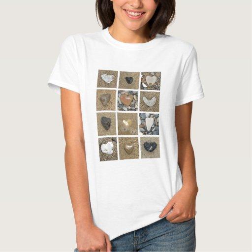 El corazón oscila la camiseta de las mujeres remeras