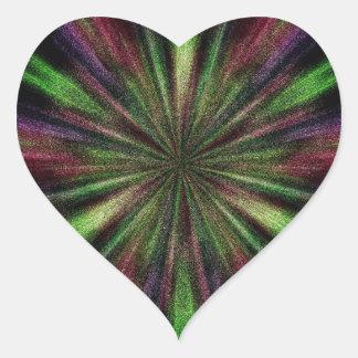 El corazón pegatina en forma de corazón