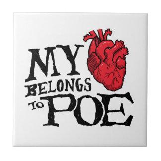 El corazón pertenece a la baldosa cerámica del Poe Tejas Cerámicas