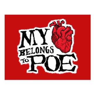 El corazón pertenece a la postal del Poe