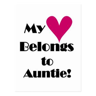 El corazón pertenece a la tía Tshirts y regalos Postales