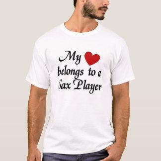 El corazón pertenece a un jugador de saxofón playera