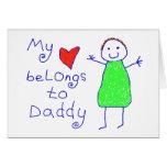El corazón pertenece al papá felicitacion