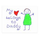El corazón pertenece al papá postal