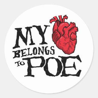 El corazón pertenece al pegatina del Poe