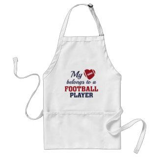 El corazón pertenece fútbol delantal