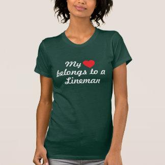 """el """"corazón pertenece juez de línea camiseta"""