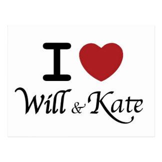 El corazón real del boda I y la postal de Kate