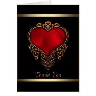 El corazón rojo del oro negro le agradece las tarj