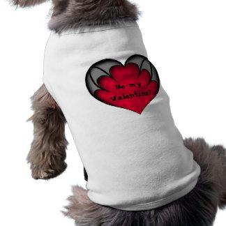 ¿El corazón rojo gótico sea mi tarjeta del día de  Prenda Mascota