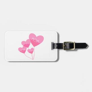 el corazón rosado hincha te quiero a la mamá etiquetas para maletas