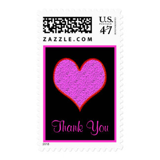 el corazón rosado le agradece sello