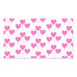 El corazón rosado romántico hincha el modelo tarjeta de visita