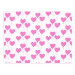 El corazón rosado romántico hincha el modelo tarjetas postales