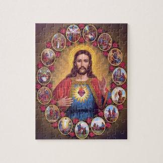 El corazón sagrado de Jesús Puzzles