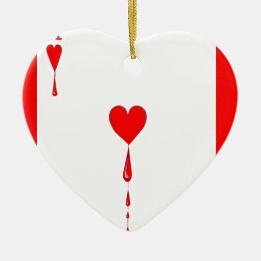 El corazón sangrante Aces la tarjeta por Sharles Adorno De Cerámica En Forma De Corazón