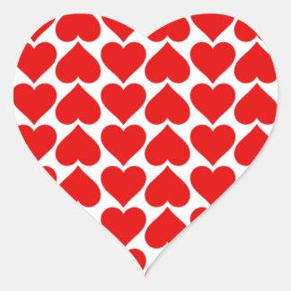 El corazón teja al pegatina