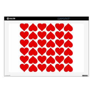 El corazón teja el amor fresco calcomanías para 43,2cm portátiles