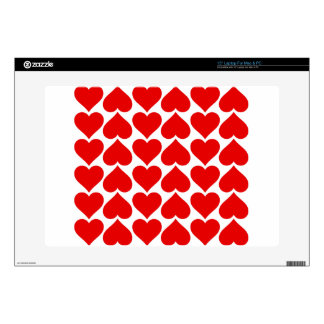 El corazón teja el amor fresco calcomanías para portátiles