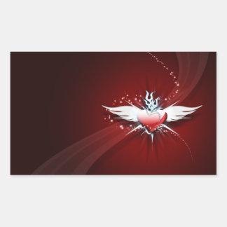 El corazón tiene alas rectangular altavoces