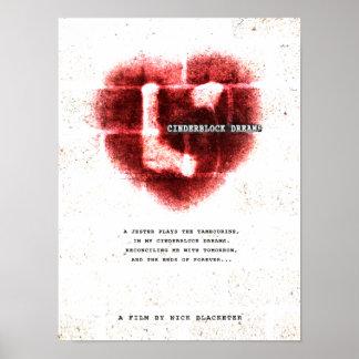 El corazón trágico Cinderblock soña el poster