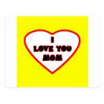 El corazón Transp brillante amarillo llenó el Postal