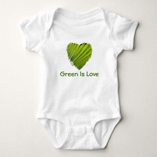 El corazón verde, verde es amor body para bebé