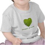 El corazón verde, verde es amor camiseta