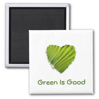 El corazón verde, verde es amor iman de nevera