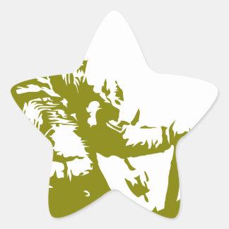 El corazón y el alma de Viking es audazes - Pegatina En Forma De Estrella