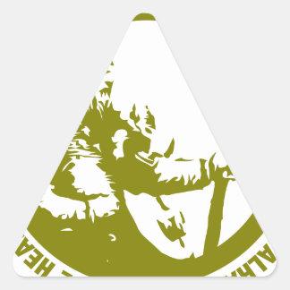 El corazón y el alma de Viking es audazes - Pegatina Triangular
