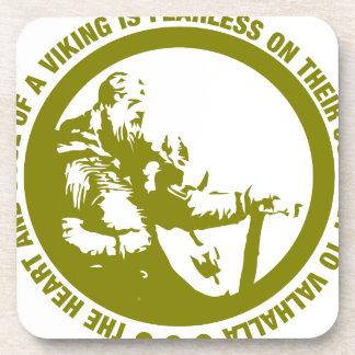 El corazón y el alma de Viking es audazes - Posavasos De Bebidas