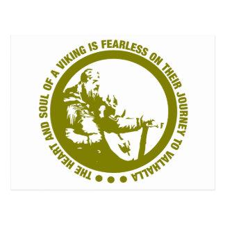 El corazón y el alma de Viking es audazes - Postal