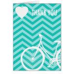 El corazón y la bicicleta de Chevron le agradecen  Tarjeta