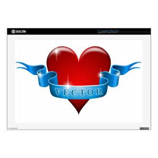 El corazón y la cinta remezclan amor portátil calcomanías