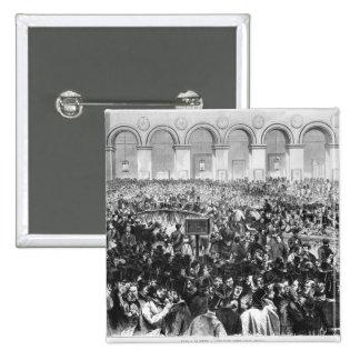 """El """"Corbeille"""" en la bolsa de París, 1873 Pin Cuadrada 5 Cm"""