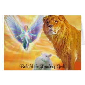 ¡El cordero de dios! Tarjeta De Felicitación