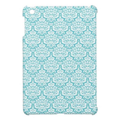 El cordón azul Shell del damasco del vintage model iPad Mini Coberturas
