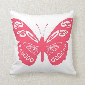 El cordón clásico de la mariposa de las rosas almohadas