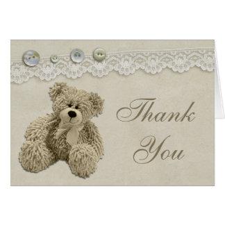 El cordón del vintage del oso de peluche le agrade felicitacion