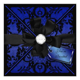 El cordón floral invita con el arco del diamante invitacion personal