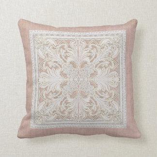 El cordón rústico w envejeció la elegancia de lino cojín decorativo