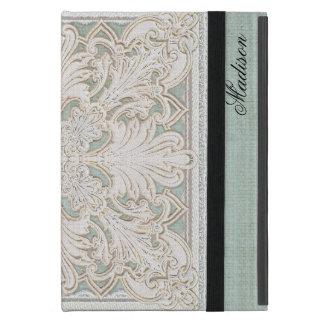 El cordón rústico w envejeció la elegancia de lino iPad mini funda