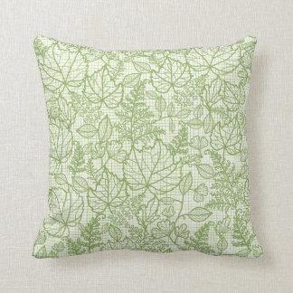 El cordón verde sale del modelo almohadas