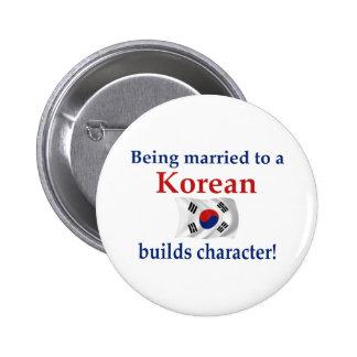 El coreano construye el carácter pin
