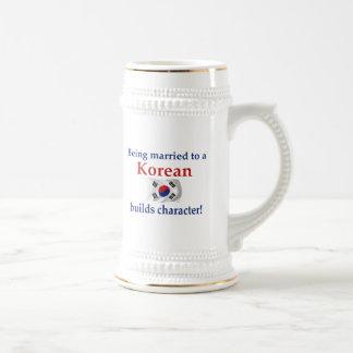El coreano construye el carácter taza